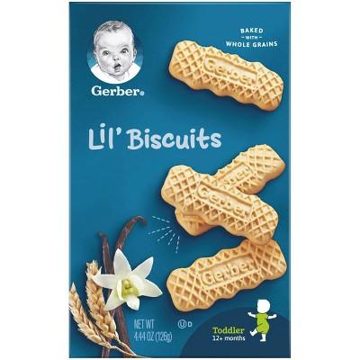 Gerber Lil' Biscuits Vanilla Wheat - 4.44oz