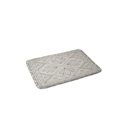 Iveta Abolina Janelle Memory Foam Bath Mat Cream - Deny Designs