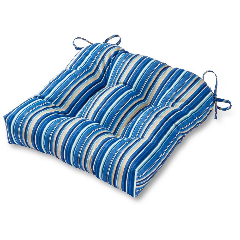 Outdoor Chair Cushion - Sapphire (Blue) Stripe - Greendale Home Fashions