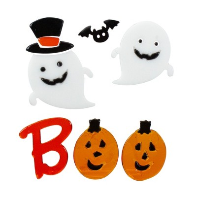 "Northlight Pumpkin and Ghost ""Boo"" Halloween Gel Window Clings"