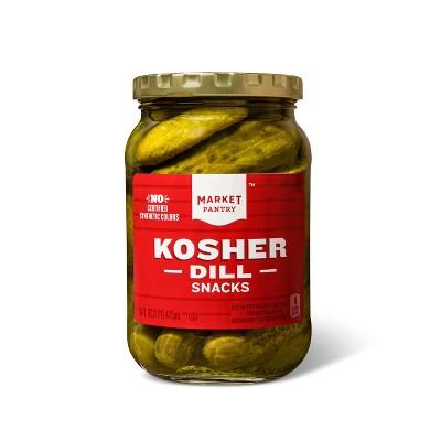 Kosher Dill Snack Pickles - 16oz - Market Pantry™