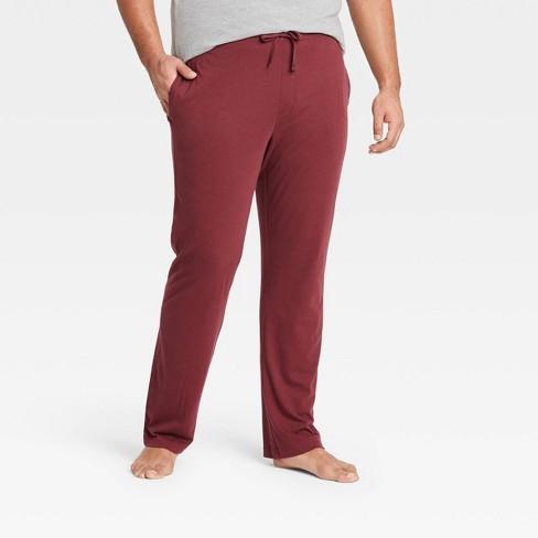 Men's Regular Fit Knit Pajama Pants - Goodfellow & Co™ Royal Burgundy - image 1 of 2