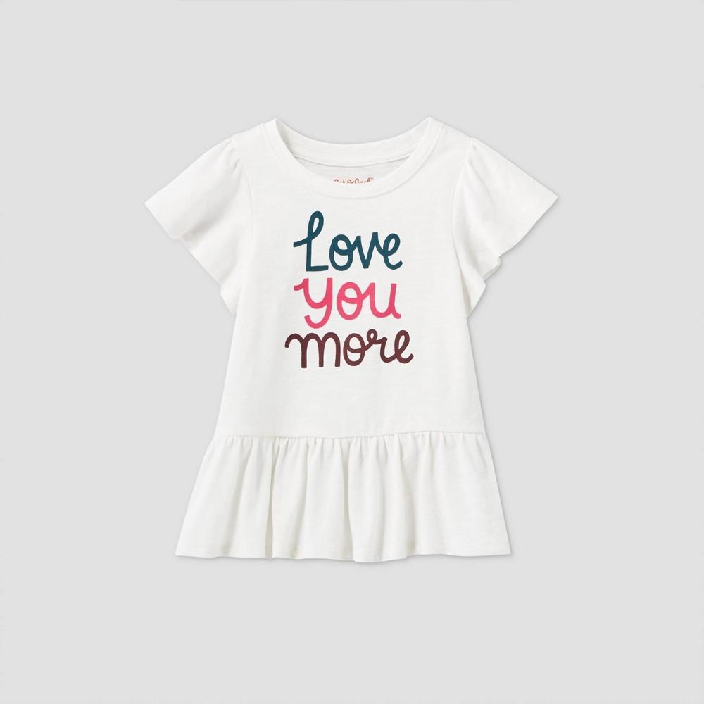 Discounts Toddler Girls' 'Love You More' Short Sleeve T-Shirt - Cat & Jack™