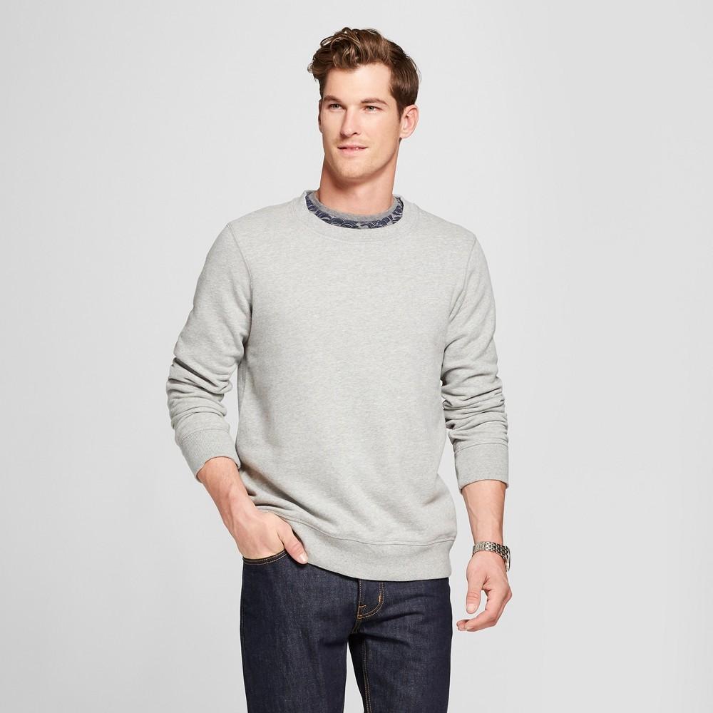 Men's Standard Fit Long Sleeve Sensory Friendly Crew Neck Sweatshirt - Goodfellow & Co Gray 2XL