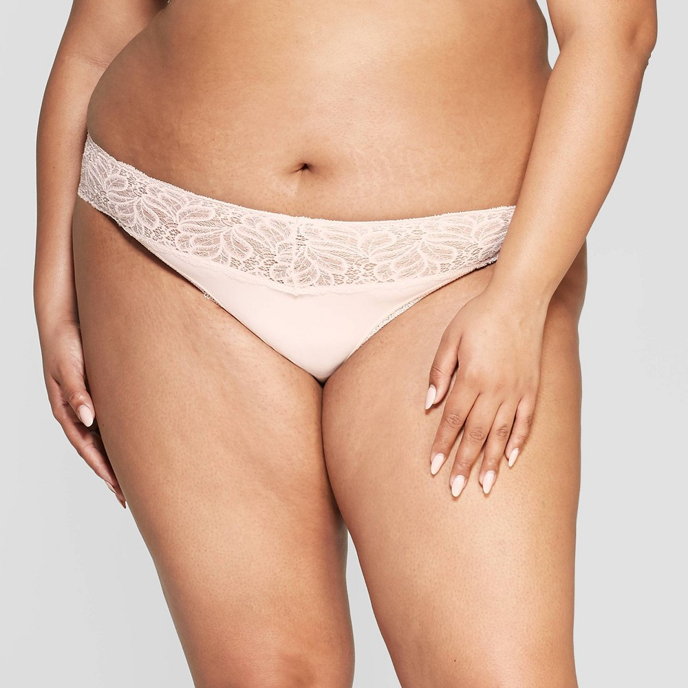 3b69d592c9b3 Womens Plus Size Micro Thong with Lace Waistband Auden Soft Petal Pink X