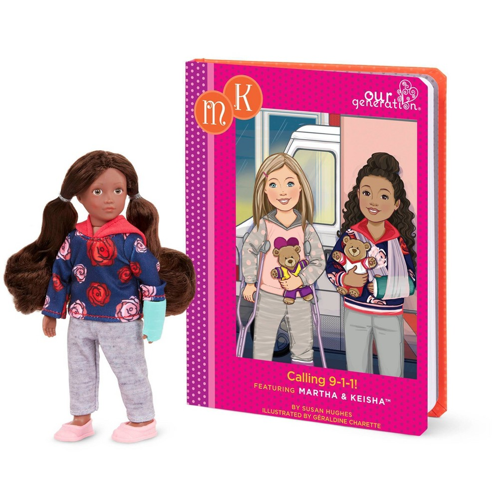 Our Generation Read 38 Play Set 6 34 Mini Doll Keisha With Storybook
