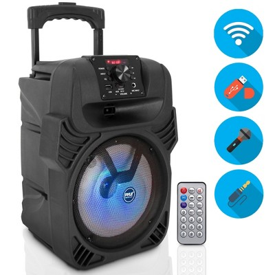 Pyle PPHP844B 400 Watts Portable Indoor Outdoor Bluetooth Speaker System with Rechargeable Battery and Flashing Party Lights