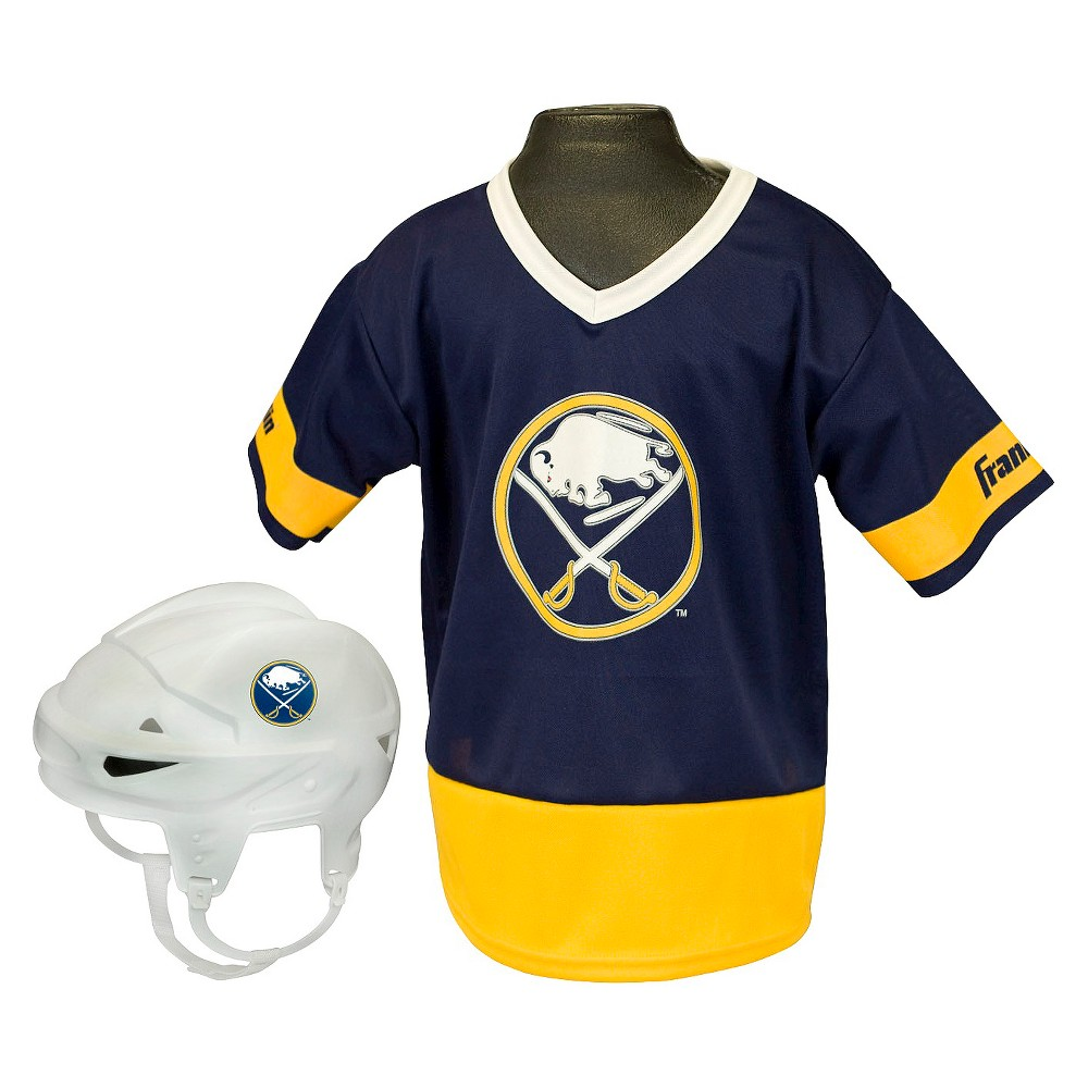 Buffalo Sabres Franklin Sports Licensed Hockey Uniform Set for Kids