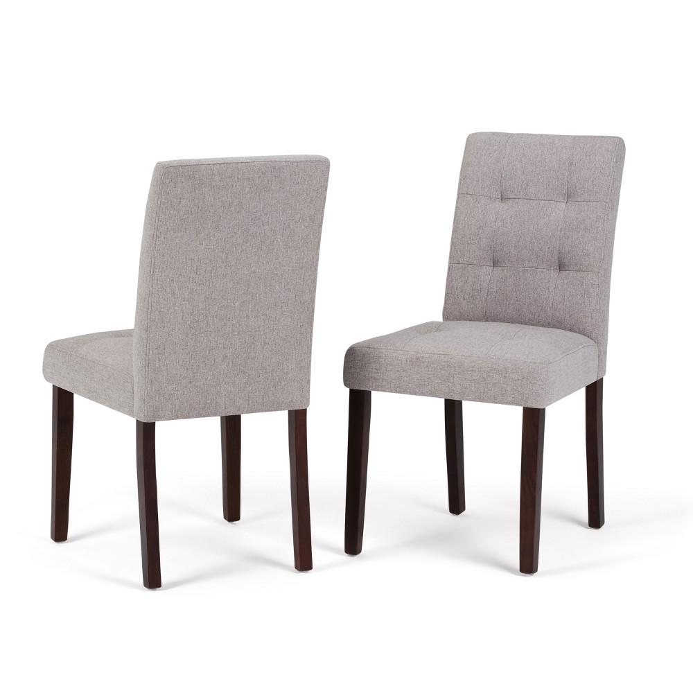 Jefferson Parson Dining Chair Set of 2 Cloud Gray Linen Look