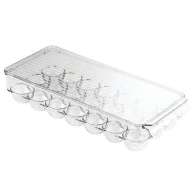 InterDesign Fridge Binz 12-Egg Holder with Lid Large Clear
