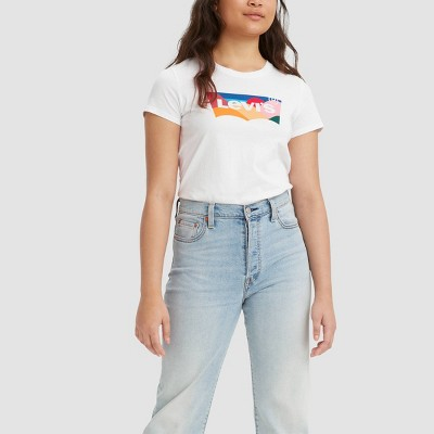Levi's® Women's Short Sleeve Perfect T-Shirt - Graphic White