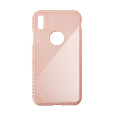 BasAcc Criss-Cross Patterned Designed Protective Back Case Compatible with Apple iPhone X, Pink