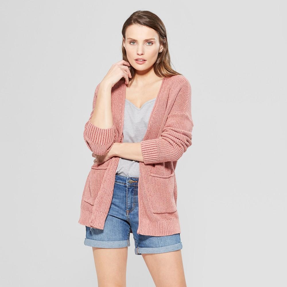 Women's Long Sleeve Cardigan Open Layering - Universal Thread Rose (Pink) Xxl