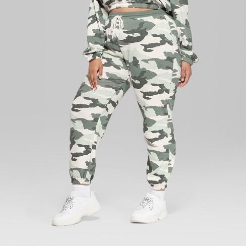 7eece3e2f993e Women's Plus Size Jogger Camo Print Vintage Sweatpants - Wild Fable™ Green