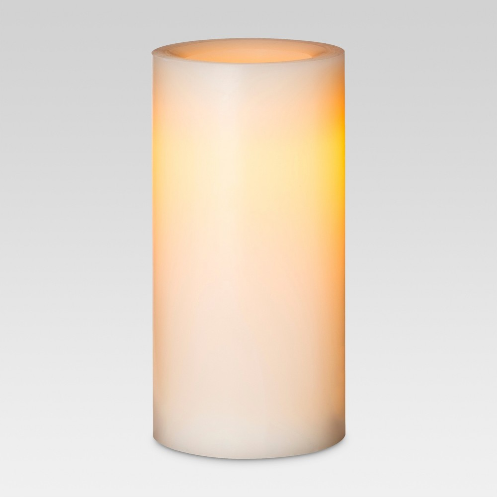 Led Pillar Candle Cream (Ivory) 4x8 - Threshold