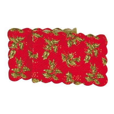 C&F Home Holly Cotton Quilted Table Runner
