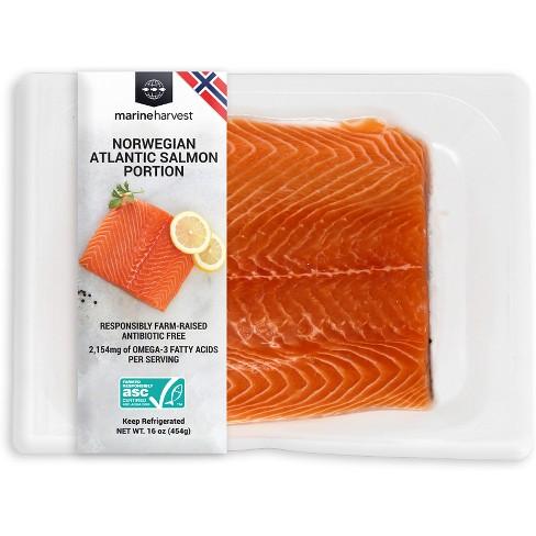 Marine Harvest Farmed Atlantic Salmon Portion Plain - 1lb - image 1 of 1