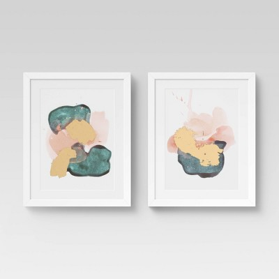 "(Set of 2)16"" x 20"" Abstract with Foil - Project 62™"