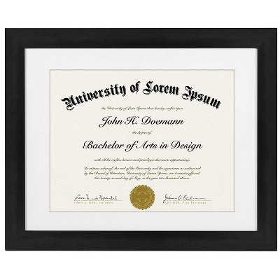 Diploma Frame - Made of MDF- Shatter Resistant Glass Horizontal and Vertical Formats and Acid Free - Variety of Sizes & Multipacks - Americanflat