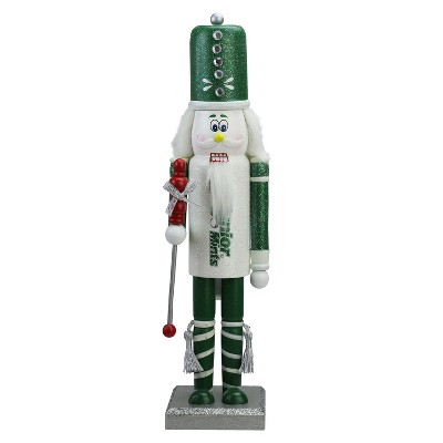 "Northlight 14"" Green and White Junior Mints Wooden Christmas Nutcracker Figure"
