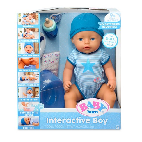 Baby Born Interactive Boy Doll Blue Eyes Target