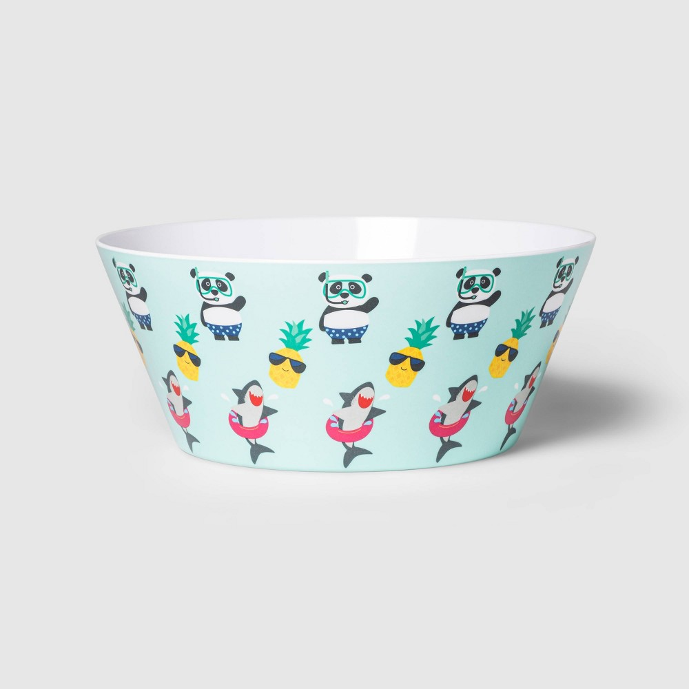 Image of 115oz Melamine Character Toss Serving Bowl - Sun Squad