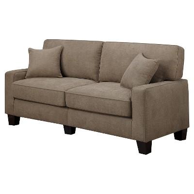 RTA Palisades Collection Sofa Fawn Tan   Serta®