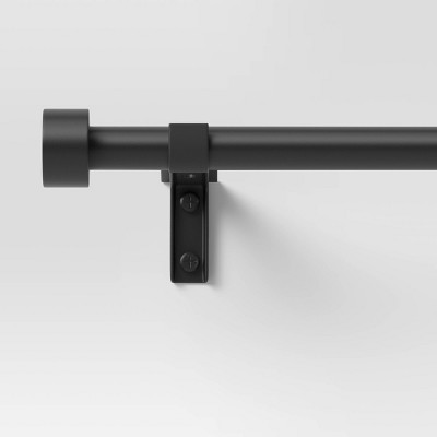 Easy Hang Frame Mount Curtain Rod Set Black - Room Essentials™