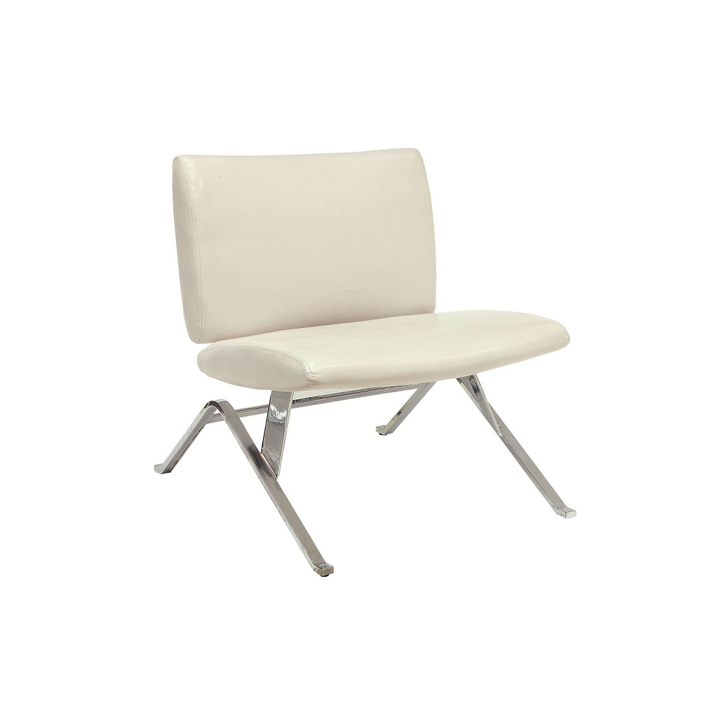 Reviews Casey Leather Accent Chair  - miBasics