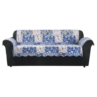 Blue Heirloom Bluebell Floral Sofa Furniture Cover   Sure Fit
