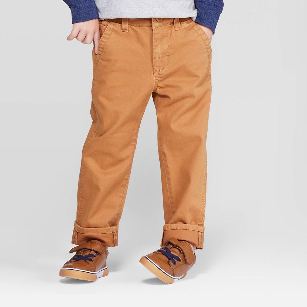Image of OshKosh B'gosh Toddler Boys' Chino Pants - Brown 12M, Toddler Girl's