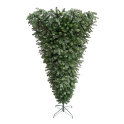 Northlight 7.5' Unlit Artificial Christmas Tree Green Spruce Upside Down Spruce Medium