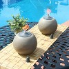 2pk Stone-Look Ball Outdoor Tabletop Torch Set - Sunnydaze Decor - image 4 of 4