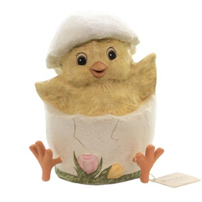 """Easter 10.0"""" Just Hatched Web Feet Chick Egg  -  Decorative Figurines"""