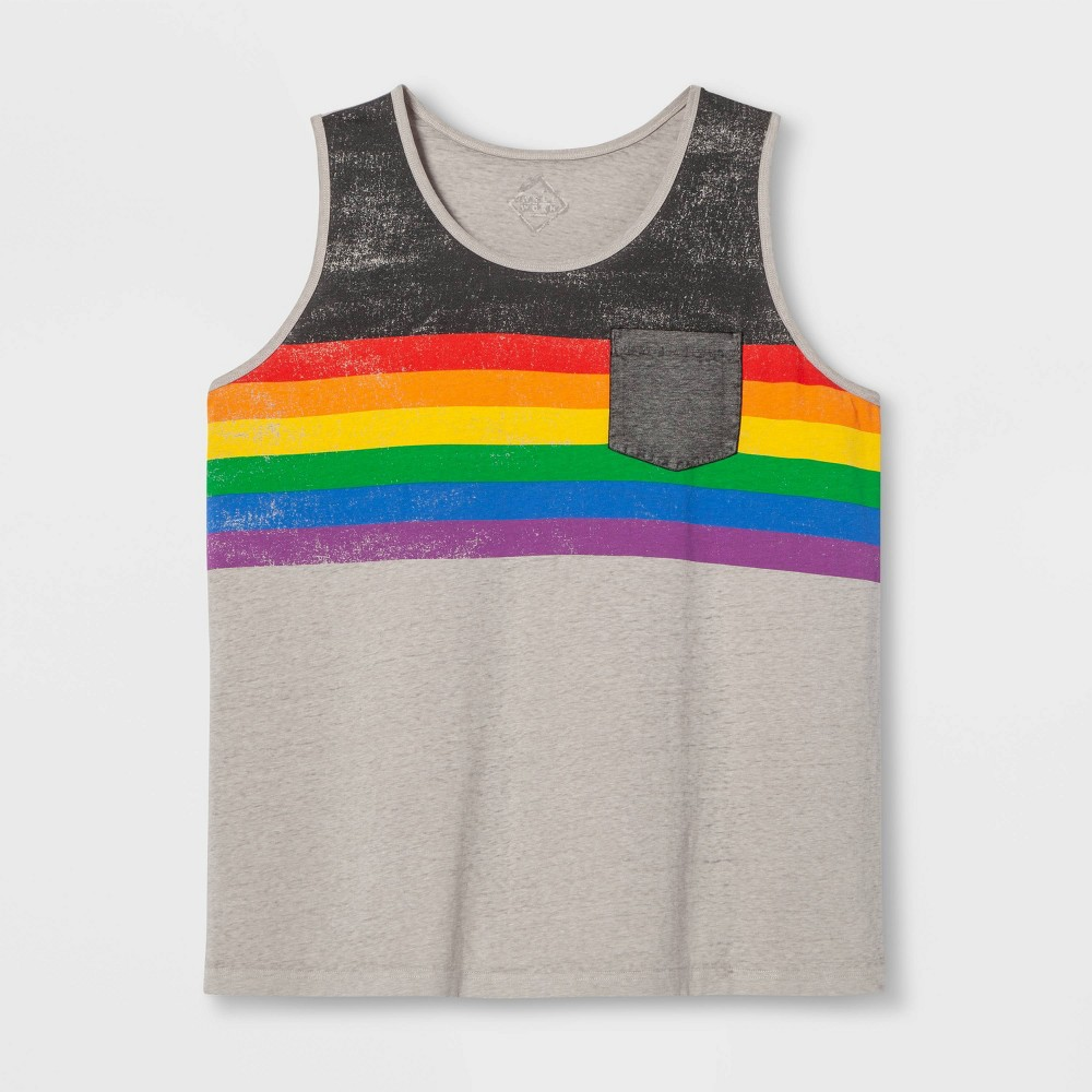 Pride Adult Extended Size Gender Inclusive Tank Top - Gray 4XB, Men's