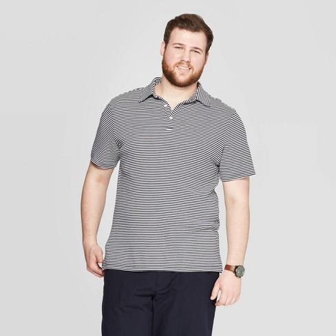 78a36a71bdd Men's Big & Tall Striped Short Sleeve Elevated Ultra-Soft Polo Shirt -  Goodfellow & Co™ White 2XBT : Target