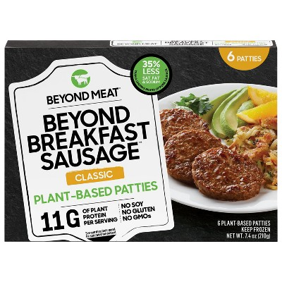 Beyond Meat Beyond Breakfast Sausage Classic Plant-Based Breakfast Patties - Frozen - 7.4oz