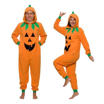 Funziez! Halloween Jack O Lantern Pumpkin Adult Unisex Novelty Union Suit