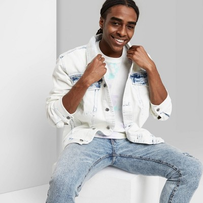 Men's Regular Fit Denim Jacket - Original Use™ Acid Blue