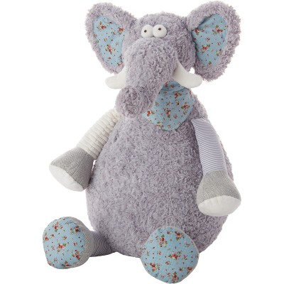 "Mina Victory Elephant Plush Toy Grey 22"" x 26"" Stuffed Animal"