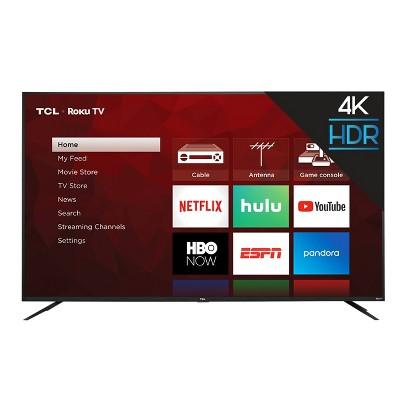 "TCL 75"" Class 4-Series 4K UHD HDR Smart Roku TV – 75S435"