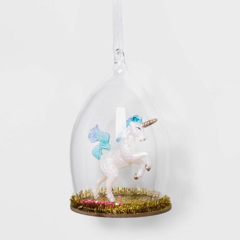 Unicorn Cloche Glass Christmas Ornament - Wondershop™ - image 1 of 2
