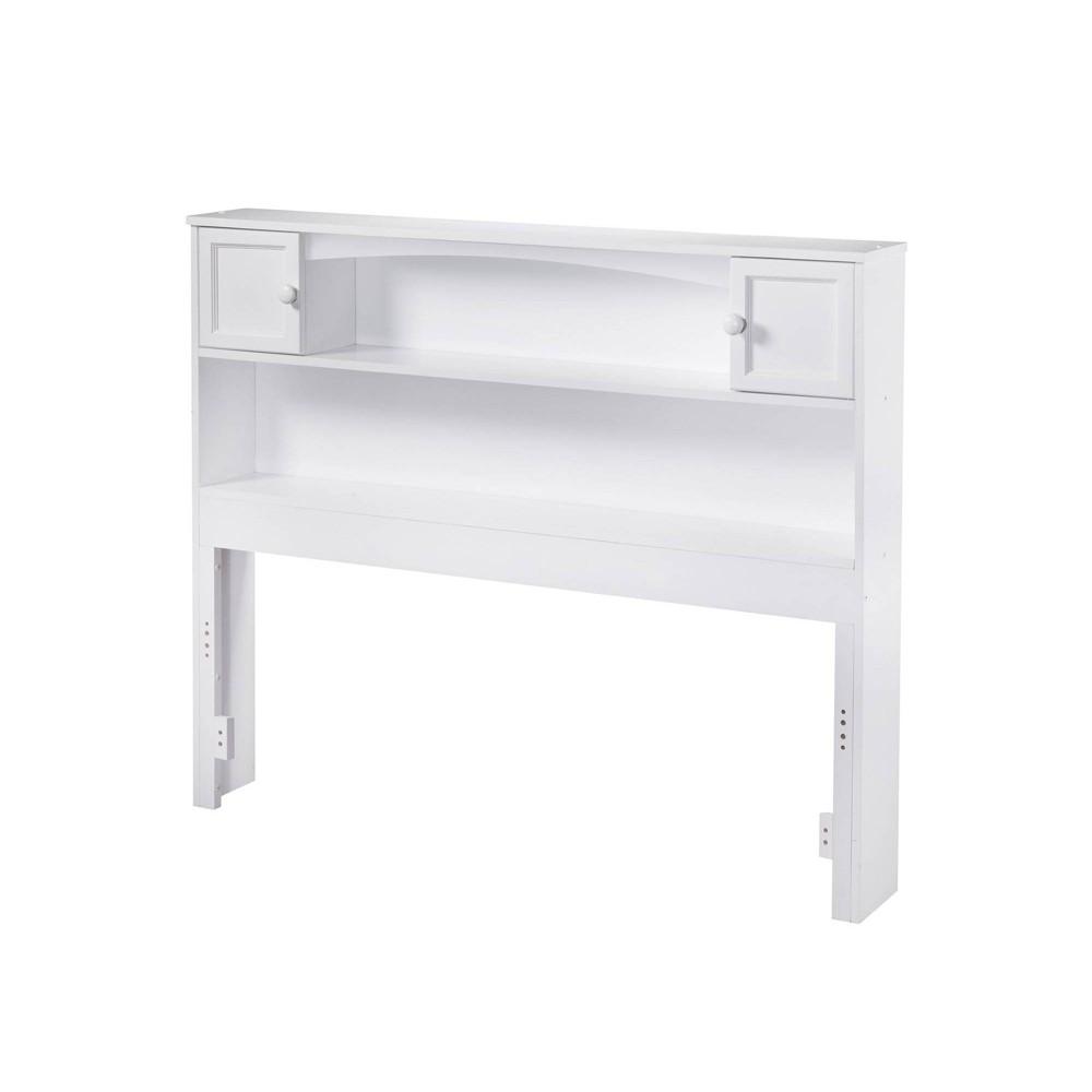 Full Newport Bookcase Headboard White Atlantic Furniture