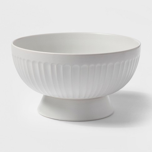 106oz Stoneware Footed Serving Bowl White - Threshold™ - image 1 of 1
