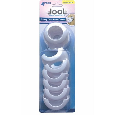 Jool Baby Door Knob Safety Covers for Child Proofing 4pk