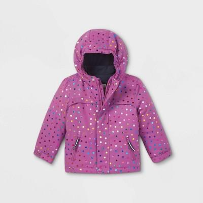 Toddler Girls' Polka Dot 3-in-1 Jacket - Cat & Jack™ Purple