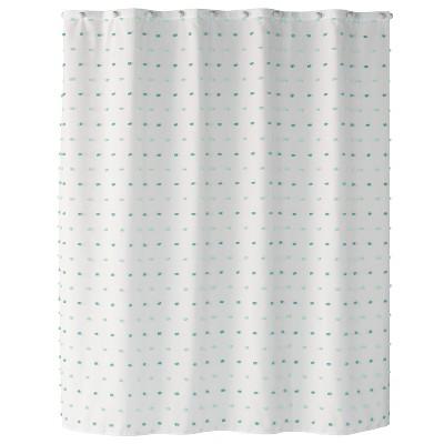Colorful Dot Aqua Shower Curtain Aqua - Saturday Knight Ltd.