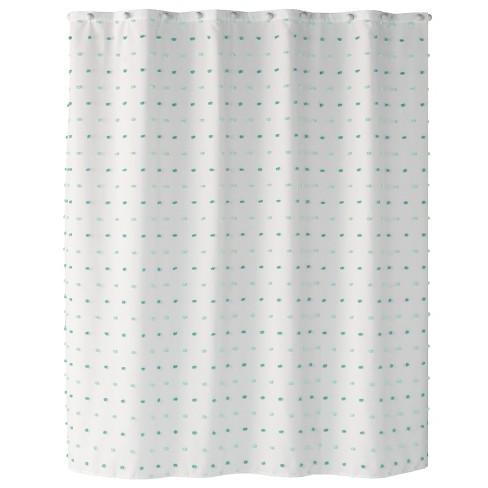 Colorful Dot Aqua Shower Curtain