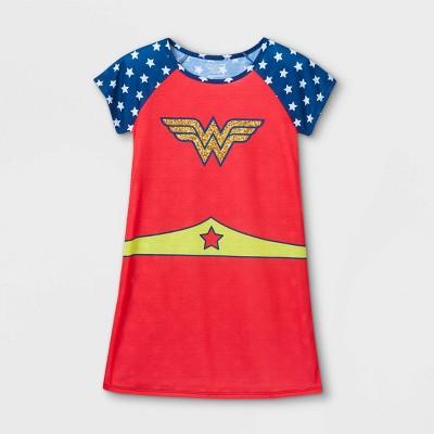 Girls' Wonder Woman Nightgown - Red