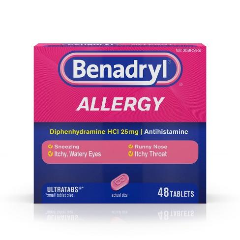 Benadryl Ultratabs Allergy Relief Tablets - Diphenhydramine - 48ct - image 1 of 4